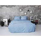 Sateen Duvet Set - Light blue