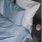 Sateen Duvet Set - Light blue