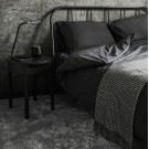 Percale Duvet Set - Dark grey