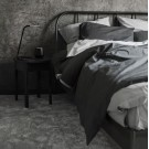Percale Duvet Set - Light grey