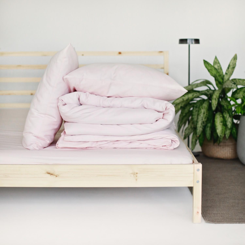 Sateen Duvet Set - Light pink