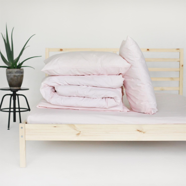 Percale Duvet Set - Light pink