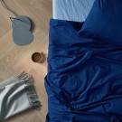 Percale Duvet Set - Light blue