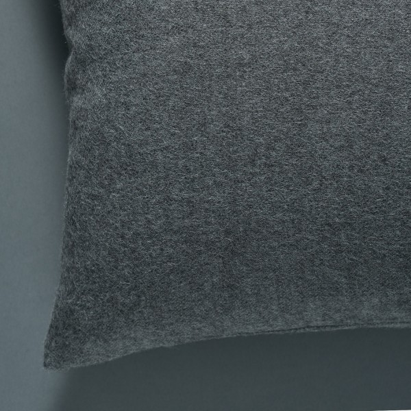 Decorative cushion (Twill weave) - Medium grey
