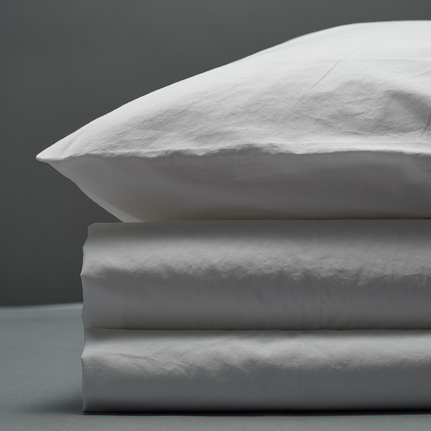 Percale Duvet Set - White
