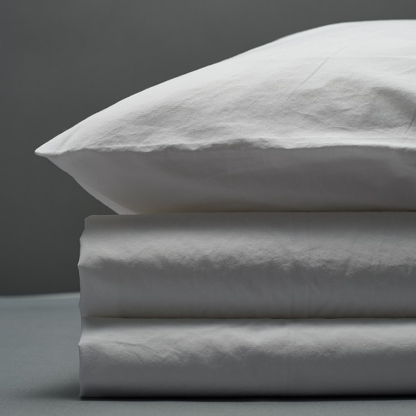 Percale Duvet Set- White