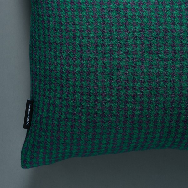 Decorative Cushions (Houndstooth) -  Green & Navy