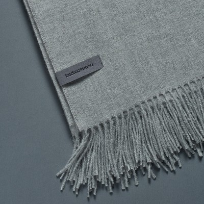 Alpaca throw (Twill weave) - Light grey