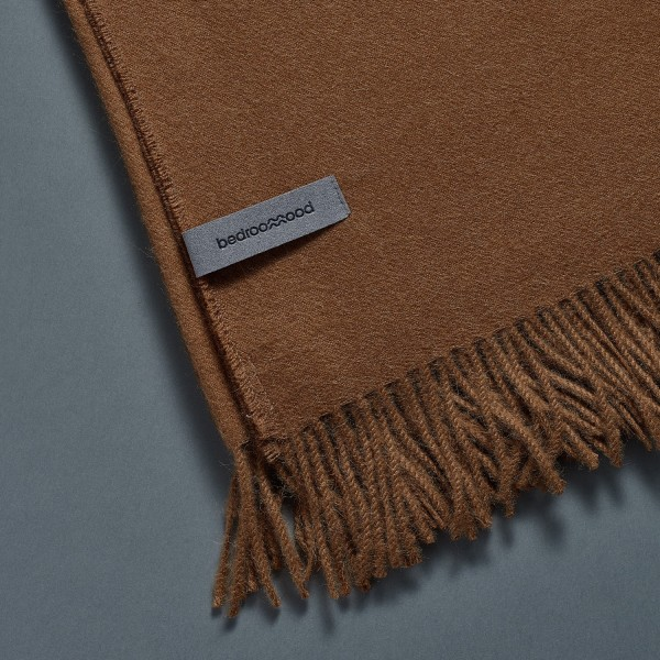 Alpaca Throw (Twill Weave) - Pure brown