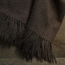 Alpaca Throw (Twill Weave) - Carafe brown
