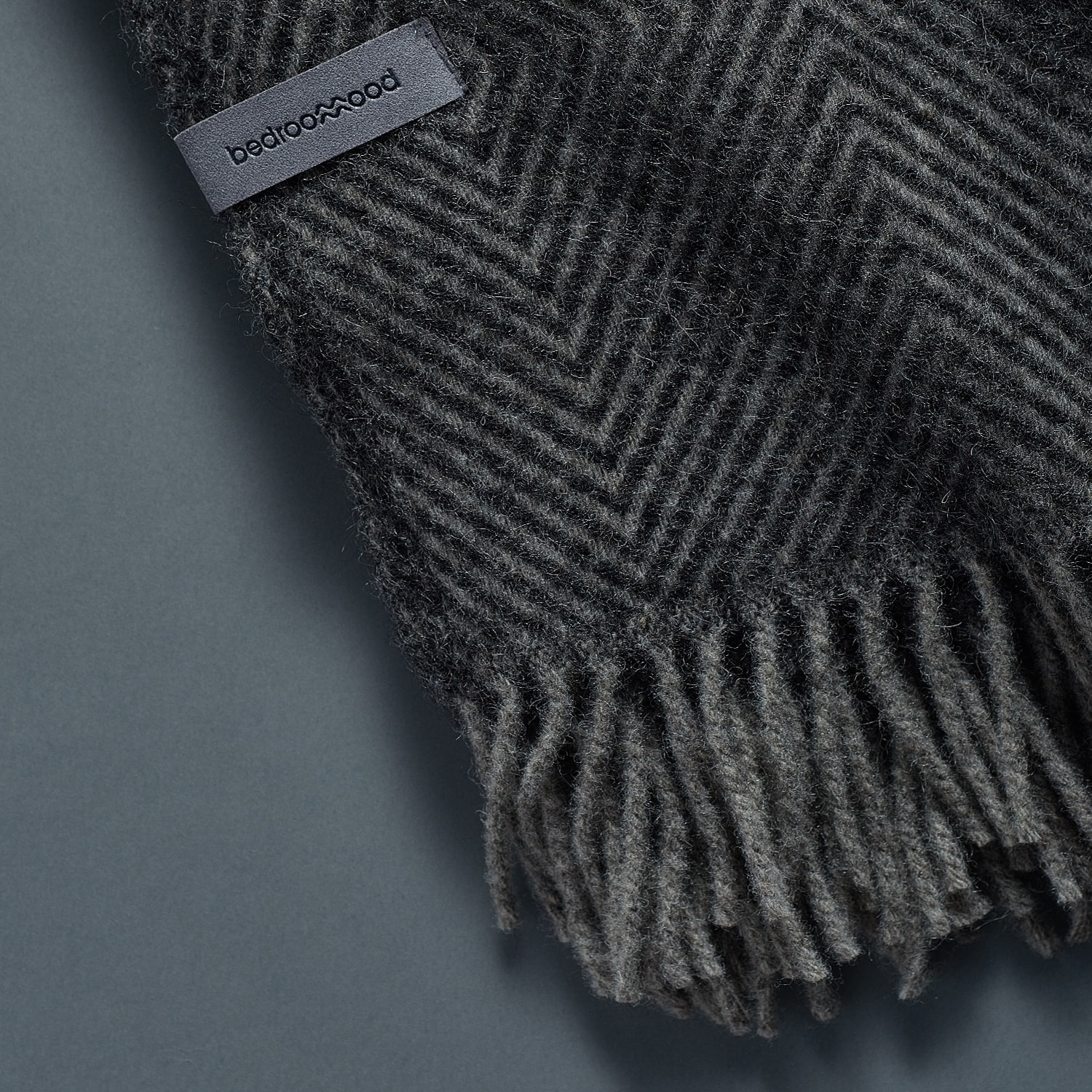 Gotland Wool Blanket - Dark Grey